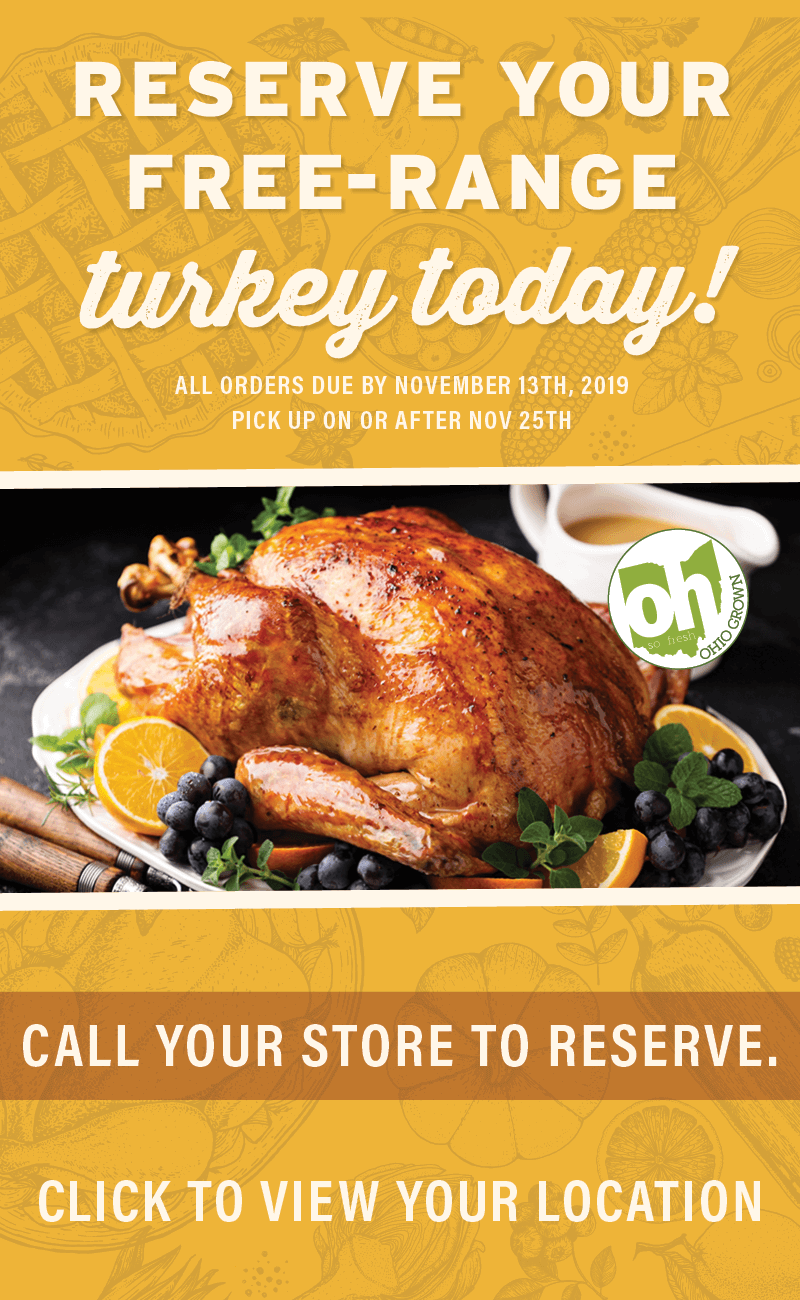 Reserve your free-range turkey today!